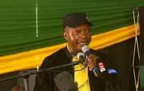 African National Congress (ANC) Mpumalanga chairperson David Mabuza at Mbombela Stadium on 1 December 2017. Picture: Screengrab