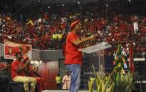 EFF leader Julius Malema addressing supports at the party's election registration campaign at the Standard Bank Arena in Johannesburg. Picture: @EFFSouthAfrica/Twitter