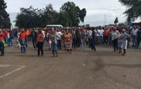FILE: Protesters at the Optimum coal mine entrance in Mpumalanga. Picture: Pelane Phakgadi/EWN