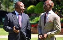 Finance Minister Malusi Gigaba briefing Deputy President Cyril Ramaphosa on his scheduled visit to the US to showcase the country. Picture: Twitter/@MTshwete.