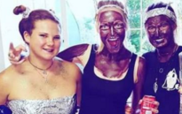 "FILE: A screengrab of an Instagram post two women involved in a ""blackface"" incident at the Stellenbosch University."