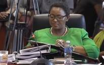 A screengrab of Social Development Minister Bathabile Dlamini answering questions at the inquiry into her role in the social grants debacle.