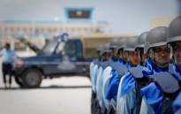 FILE: Somali Police Force on parade. Picture: AFP