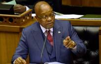 President Jacob Zuma responding to questions in the National Assembly on 2 November 2017. Picture: GCIS.