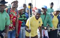 FILE: Small groups of Marikana miners made their way to the infamous koppie, which has become known as a sacred place to remember the slain miners. Picture: Emily Corke/EWN