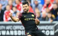 FILE: Manchester City's Sergio Aguero celebrates his goal against Swansea City in the English Premier League clash on 24 September 2016. Picture: Official Manchester City Facebook page.