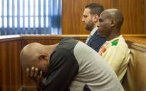 The three co-accused, Christopher Panayiotou, Sinethemba Nenembe and Zolani Sibeko appear before the PE High Court during Jayde Panayiotou's murder trial. Picture: Anthony Molyneaux/EWN.