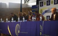 Deputy Minister of Police Bongani Mkongi hosted an anti-gangsterism Imbizo in Hanover Park. Picture: Cindy Archillies