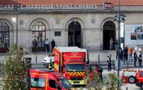 """A knife-wielding man shouting """"Allahu Akbar"""" kills two at French train station before being shot dead.  Picture: AFP."""