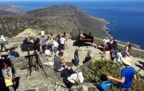 Some Capetonians celebrated World Piano Day with a free concert on Table Mountain. Picture: Monique Mortlock/EWN.