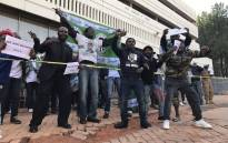 Zambian nationals have gathered outside the country's High Commission in Pretoria following Zambia's refusal to allow DA leader Mmusi Maimane into the country. Picture: EWN