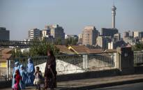 A view of Johannesburg's inner city. Picture: AFP