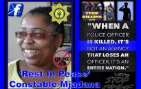 Constable Caroline Mjandana was murdered while on duty. Picture: Public Servant PE Appreciation Squad/facebook.com