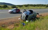 Paramedics on the scene of the car crash. Picture: ER24/Twitter