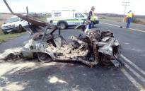 The scene of the crash near Riversdale. Picture: Ashraf Soeker