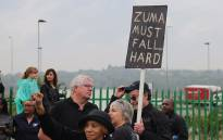 Anti-Zuma protesters on Beyers Naudé Drive, Johannesburg. Picture: Christa Eybers/EWN