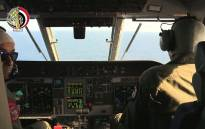 FILE: An image grab taken from a handout video released by the Egyptian Defence Ministry on 20 May, 2016 shows Egyptian military pilots taking part in a search mission over the Mediterranean Sea for the remains of an EgyptAir plane. Picture: AFP.