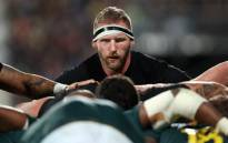 New Zealand's Kieran Read packs down at the back of the scrum during the Rugby Championship match between New Zealand and South Africa at Albany Stadium in Auckland on 16 September 2017. Picture: AFP.