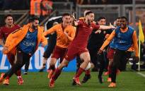 AS Roma players celebrate their win against Barcelona in the UEFA Champ[ions League on 10 April 2018. Picture: Facebook