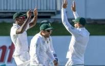 The Proteas celebrate on  16 January 2018, day 4 of their Test series against India. Picture:Twitter/@OfficialCSA
