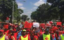 FILE: Numsa affiliated workers during a protest. Picture: Twitter/@Numsa_Media.