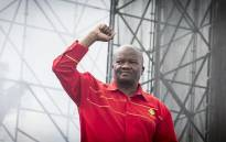 UDM leader Bantu Holomisa raises his fist before he addresses the crowd at the Freedom Movement rally against the leadership of President Jacob Zuma in Pretoria on 27 April 2017. Picture: Reinart Toerien/EWN