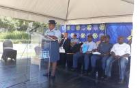 Gauteng Police Commissioner Deliwe de Lange delivering a keynote address at the launch of the 2017 Safer Festive Season Operations at the Mall of The South in Johannesburg. Picture: SAPS.