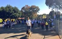 Close to 50,000 participated in the 2017 MTN Walk the Talk with 702. Picture: Katleho Sekhotho/EWN.