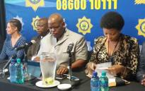 Acting police commissioner Khomotso Phahlane addresses the media at the 4th Forensic Services Conference in Pretoria. Picture: @SAPoliceService.