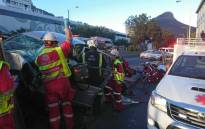 ER24 paramedics at the scene of a deadly crash in Cape Town. Picture: ER24.