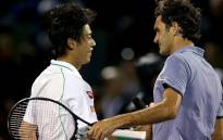 Roger Federer congratulates Kei Nishikori on his victory at the Sony Open in Miami. Picture: Facebook.com