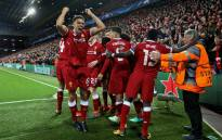 Liverpool players celebrate Sadio Mane's goal against Manchester City in the Uefa Champions League on 4 April 2018. Liverpool won the match 3-0. Picture: Facebook.