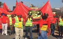 South African Municipal Workers' Union (Samwu) members at a protest. Picture: Samwu Facebook page