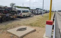 A general view of the slow-moving traffic volume at the Beitbridge border post between South Africa and Zimbabwe. Picture: Facebook.com