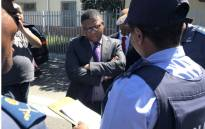 Police Minister Fikile Mbalula visits gang-riddled Hanover Park in Cape Town. Picture: Lauren Isaacs/EWN.
