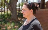 Estate agent Vicki Momberg seen outside the Randburg magistrates court after being found guilty on four counts of crimen injuria. Picture: Sethembiso Zulu/EWN