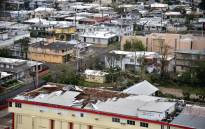 A view of a destroyed roof of a school in the Rio Piedras area, in San Juan, Puerto Rico, on 21 September 2017 after the area was pummelled by Hurricane Maria which devastated the island and knocked out the entire electricity grid. Picture: AFP.