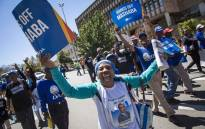 Members of the DA march from Piet Roos Park in Braamfontein to the Johannesburg City Council buildings protesting against the motion of no confidence against Joburg Mayor Herman Mashaba. Picture: Thomas Holder/EWN