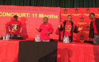 SACP leadership at the party's Chris Hani commemoration rally at the Boksburg Civic Centre on 30 April 2017. Picture: Pelane Phakgadi/EWN