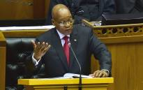 President Jacob Zuma responds to a debate in Parliament. Picture: GCIS