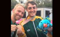 Team South Africa mountain biker Alan Hatherly won a Bronze medal in the cross country mountain bike: Picture: Twitter/@Cycling_SA