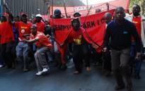 FILE: Satawu members on strike. Picture: EWN.