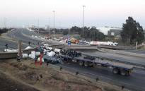 Five people have been injured after a pedestrian bridge collapsed along the N3 Geldenhuys Interchange. Picture: Car Towing Services.