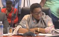 A screengrab of Social Development Minister Bathabile Dlamini.