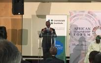 Former president Thabo Mbeki speaking at the African Leadership Forum in Boksburg on the East Rand. Picture: Pelane Phakgadi/EWN.