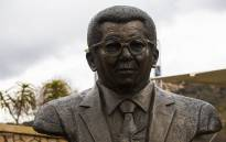 The new Walter Sisulu statue unveiled at the Walter Sisulu Botanical Gardens in Roodepoort. Picture: Kayleen Morgan/EWN