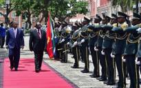 FILE: Angola's President João Lourenço welcomes President Cyril Ramaphosa during his visit on 2 March. Picture: GCIS.