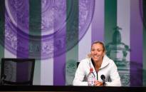 Top seed Angelique Kerber addressing the media during a Wimbledon press conference. Picture: Twitter/@Wimbledon.