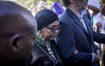 ANC stalwart Winnie Madikizela Mandela at Ahmed Kathrada's funeral on 29 March 2017. Picture: Reinart Toerien/EWN