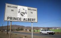 A sign welcomes visitors to the Central Karoo town of Prince Albert. Picture: Aletta Harrison/EWN.